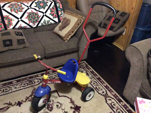 Toddler tricycle-steering wheel for adults