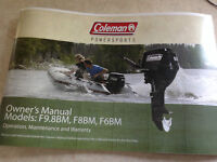 Coleman Outboard Boat Motor 9.8 hp New -  Still in Box