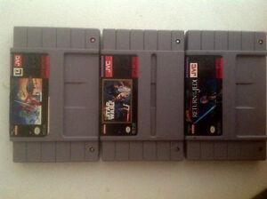3 Super Nintendo Starwars games