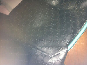 Gucci black leather fabric flexible 2yards=108x72 inches