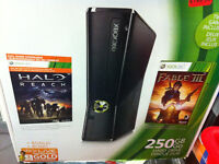 BRAND NEW SEALED XBOX 360 250 GB with fable 111 and halo reach