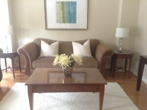 Quality sofa with matching loveseat