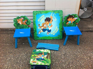 Diego Table and Chairs and Kids Luggage