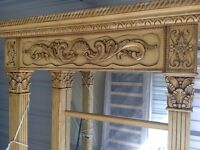 Ornate wooden display cabinet