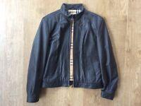 Burberry Ladies Leather Jacket Size 14
