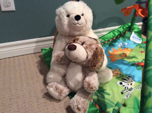 Polar bear and dog stuffed animals, brand NEW with tags