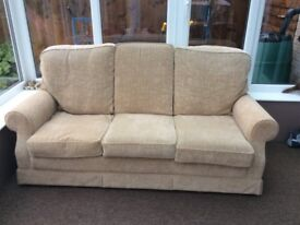3 seater sofa beige good condition