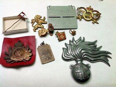 Lot de divers insignes militaires armée belge Belgique medal 213m70(14)