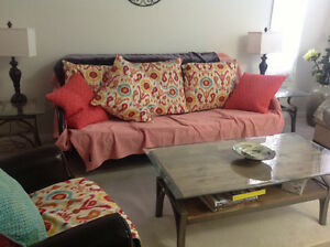 Just like new Metal Framed Futon,couch turns into bed $170