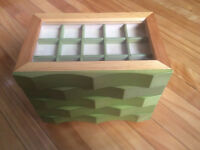 Hand Crafted Jewelry Box – Wood Stained - 5 drawers