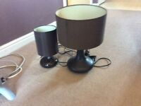 1 x Table Lamp & 1 x Bedside Lamp