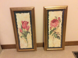 two botanical framed prints
