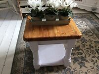 Solid Chunky Pine Occasional Table in lovely condition