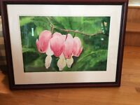 "Weekend Art Sale. ""Bleeding Heart"" original: Krista van Nostrand"