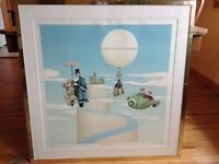 Michel Pellus Framed Lithograph