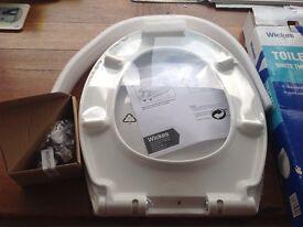 New white toilet seat