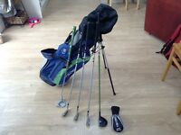 "US Kids Golf - 5 Club Set and Bag - Green 57"" - Left Handed"