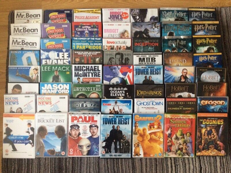 DVDs 130 job lot ideal for car boot
