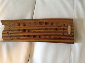 NEW PRICE: Crib board made from the deck of the Bluenose II.