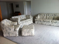 Sofa Loveseat Chair and Ottoman (4 pieces)