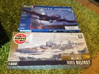 1 AIRFIX MODEL BOAT AND 1 REVELL LANCASTER B111 DAMBUSTERS