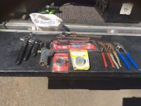 Selection of Plumbers Tools
