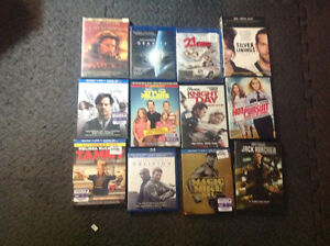 Various DVDs and Blue Ray discs