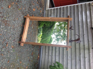 Beautiful Wicker Emporium Wooden Mirror