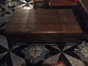 Luggage style coffee table and end table