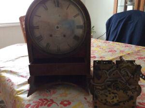 Mantle clock jewellery box design quite rare clear glass p14