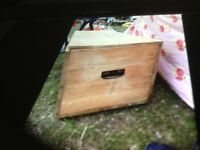 Large Old Pine Chest