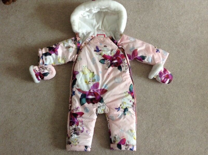 3b0311d81 Ted Baker Baby girls snowsuit age 9-12 months