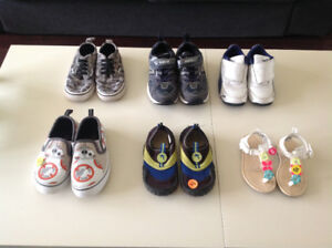 Toddler shoes - size 9 (3 pairs), size 8 and 5 (1 pair each)