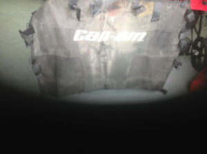 Can Am commander half windshield and rear net.