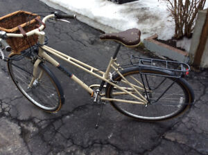 Trek Belleville 50 cm with Nantucket basket, and cup holder.