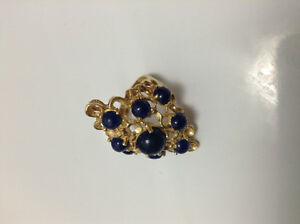 ANTIQUE SOLID 18k YELLOW GOLD RING WITH SAPPHIRES