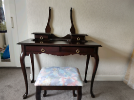 Mahogany dressing table with chair for sale