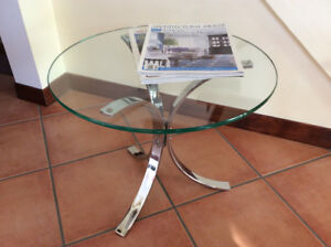 1970 Vintage Coffee Table - Table en Chrome Retro 1970