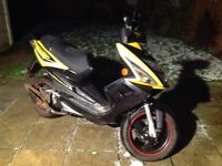 TGB R50X moped scooter 50cc black and yellow 2015 please read