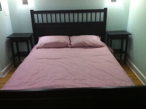 Queen bedframe and 2 night stands