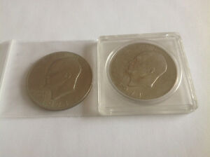 1971 U.S.A. EISENHOWER - TWO -ONE DOLLAR COINS