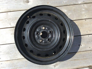 3 months old size 15 Winter Black Rims fits Subaru Impreza,