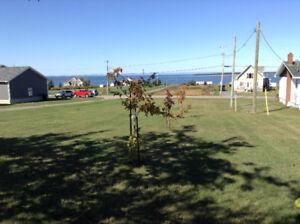 Terrain vue sur la  Baie-des-Chaleurs