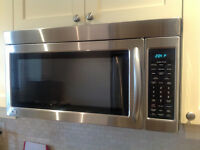 Stainless steel LG over the range Microwave Oven