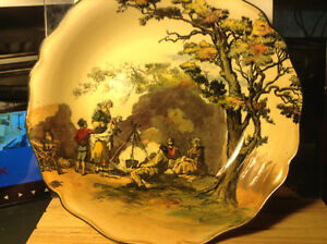 "ROYAL DOULTON ""THE GYPSIES"" SERIESWARE, 9-1/2"" LARGE BOWL, COLOR"