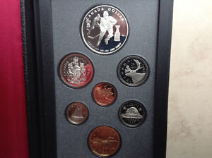 1993 Proof Double Dollar Set The 100th Anniversary Stanley Cup