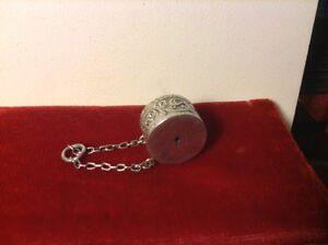 Antique Victorian Pendant Silver Cylinder