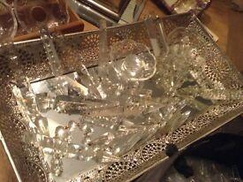 Victorian antique vintage chandelier crystals