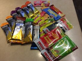 Energy Gels and bars etc as a pack.