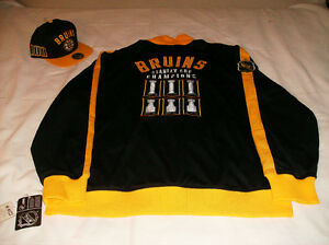 NWT BOSTON BRUINS CCM LORD STANLEY TRACK JACKET S/M/L